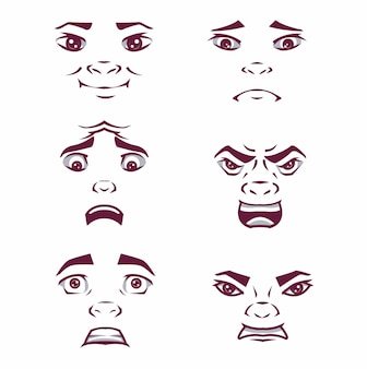 감정 세트 팩 표정