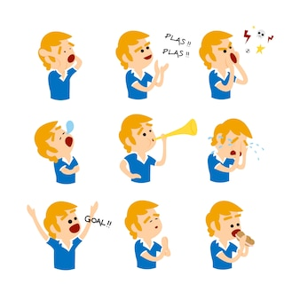 Emotions of a soccer fan