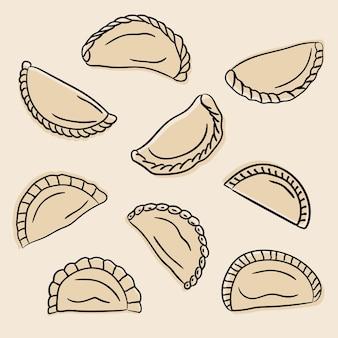 Empanada collection concept