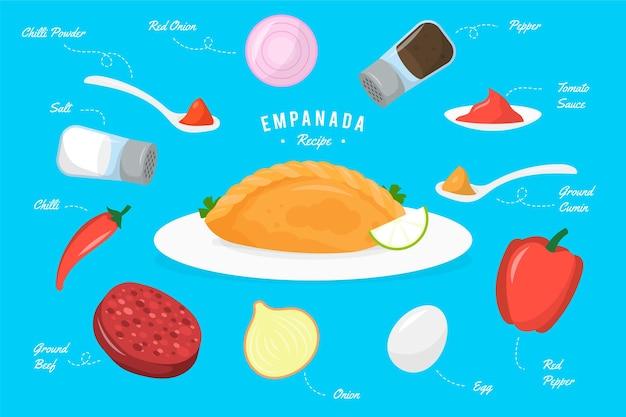 食材を使ったエンパナーダのレシピ