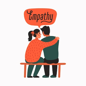 Empathy and compassion concept