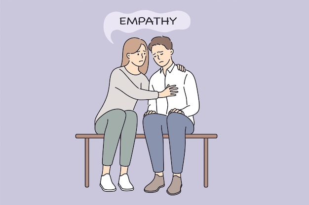 Empathy and compassion understanding concept