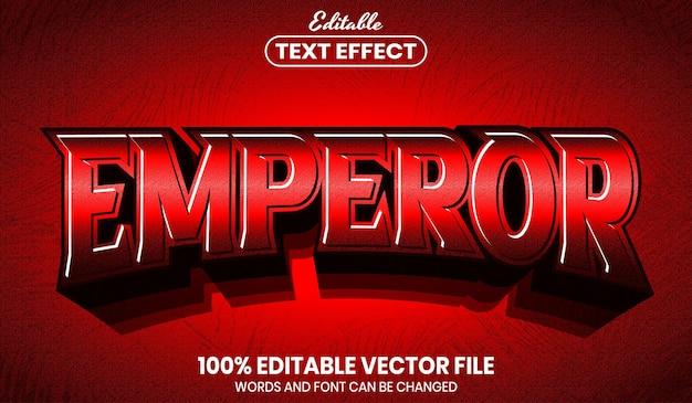 Текст императора, редактируемый текстовый эффект стиля шрифта