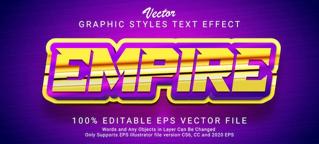 Empire editable text style effect