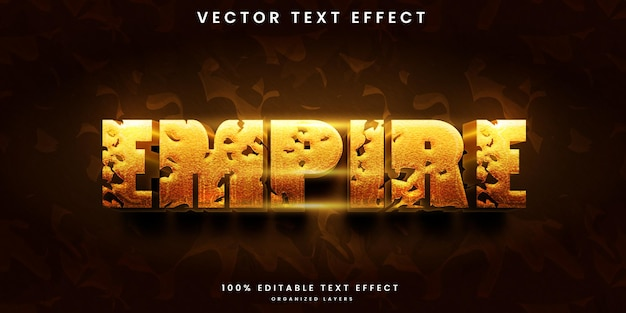 Empire style editable text effect