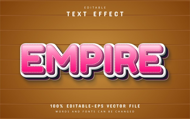Empire text, pink cartoon style text effect