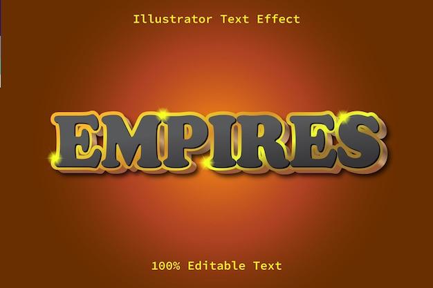 Empires editable text effect