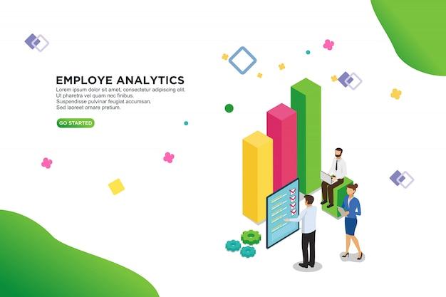 Employe analytics vector illustration concept