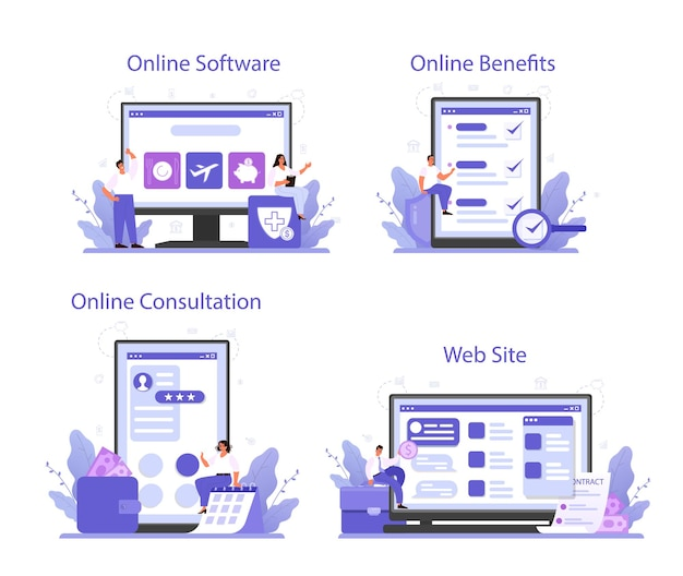 직원 복리 후생 패키지 온라인 서비스 또는 플랫폼 세트