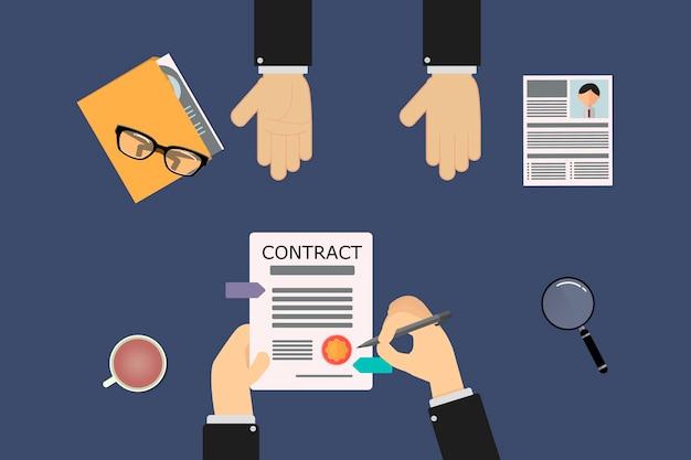 Контракт с работником, который будет подписываться в кадровой службе