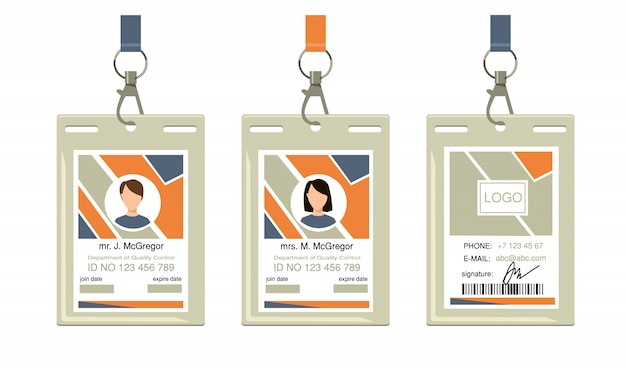 Employee corporate badges