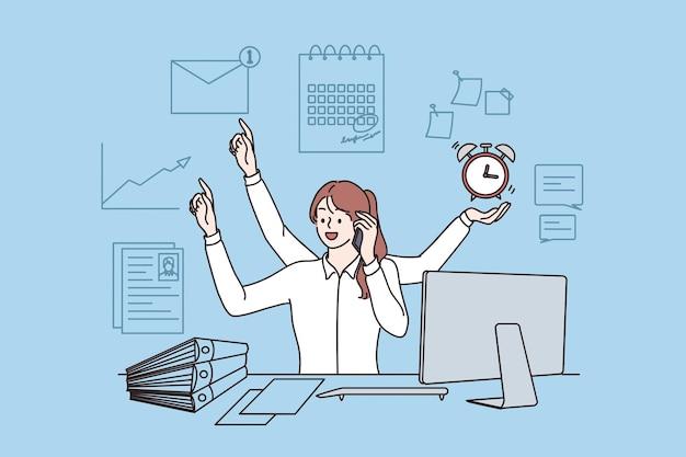 직원 효율성 및 멀티태스킹 개념