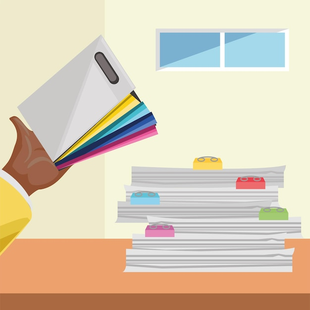 Employee holding folder