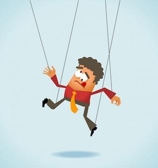 Employee like a puppet