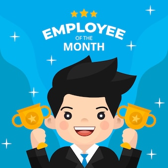 Employee of the month award design