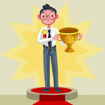 Employee of the month award illustrated