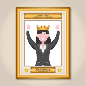 Employee of the month concept with crown