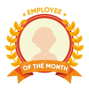 Employee of the month concept with profile