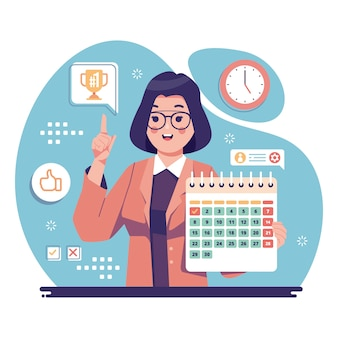 Employee of the month design illustrated