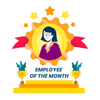 Employee of the month illustrated theme