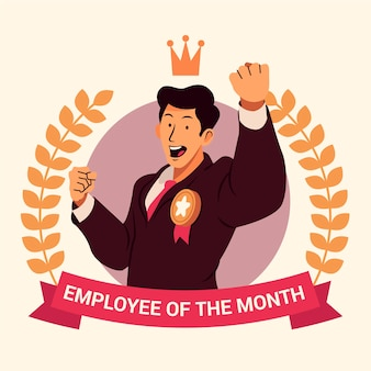 Employee of the month illustration theme