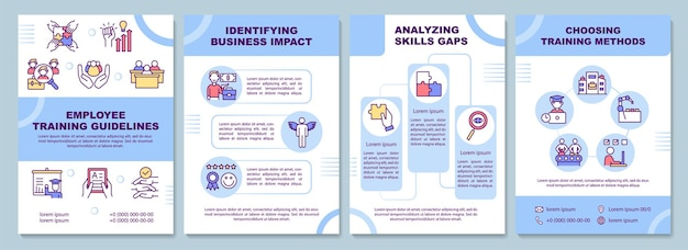 Шаблон брошюры с инструкциями по обучению сотрудников