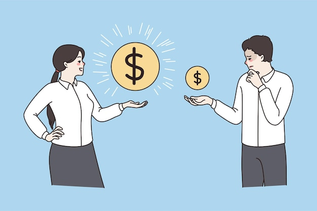 Employees with coins show salary variation