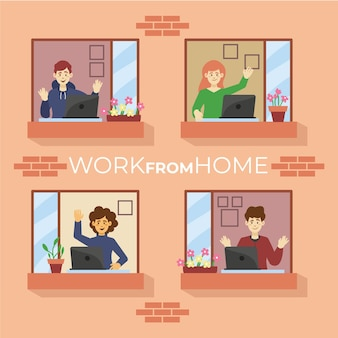 Employees working from home