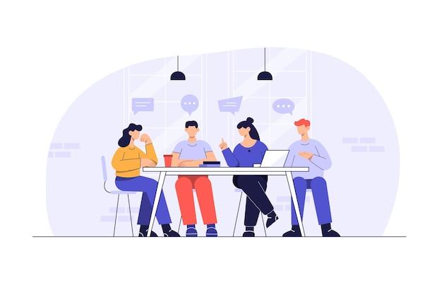 Сотрудники, работающие в офисе