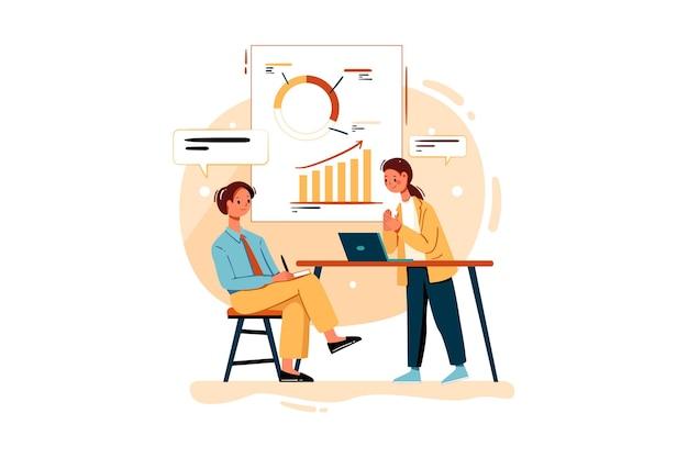 Сотрудники, работающие над маркетинговой стратегией