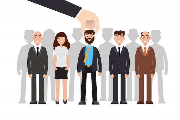 Employer of choice. business recruitment process, employees group management.