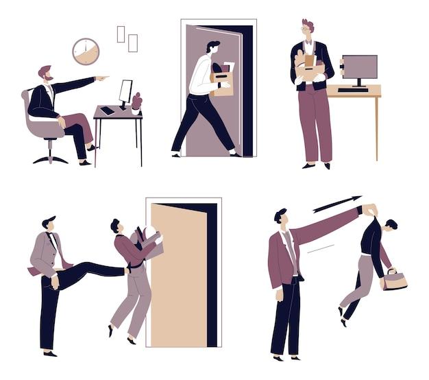 Employer fire employee director or boss dismissal