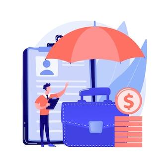 Concetto astratto di assicurazione sul lavoro