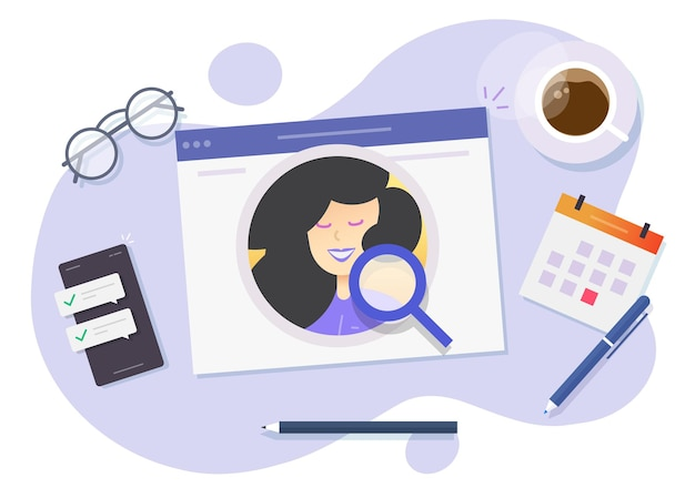 고용 또는 인적 자원 개념 평면 만화