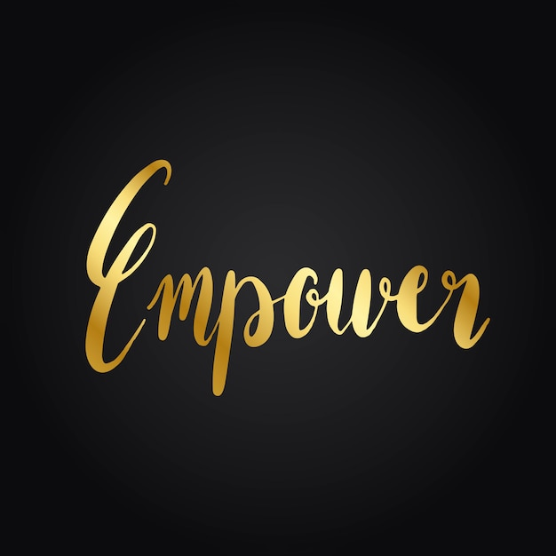Empower word typography style vector