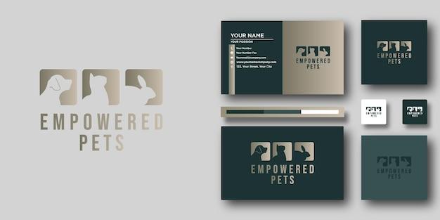 Шаблон логотипа empowered pets с современной концепцией