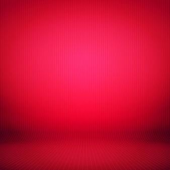 空の抽象的な赤いグラデーションの背景照明付きの部屋のスタジオ