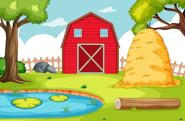 Empty background nature farm scenery