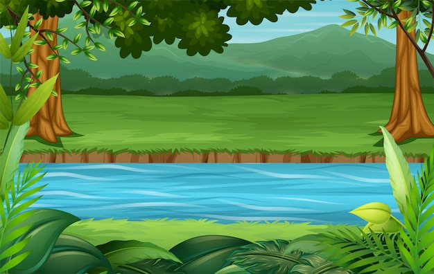 Empty background nature scenery illustration
