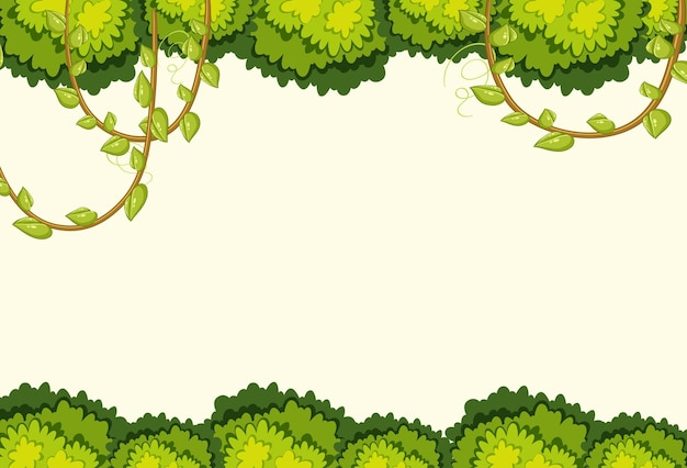 Empty background with jungle tree elements