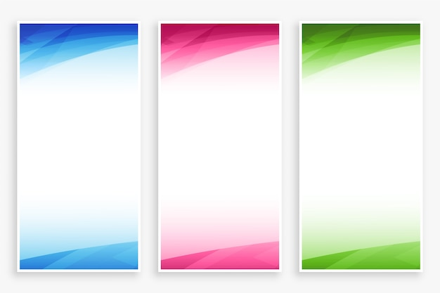 Empty banner backdrop with abstract color shapes set