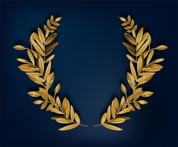 Empty banner with copy space and golden laurel wreath