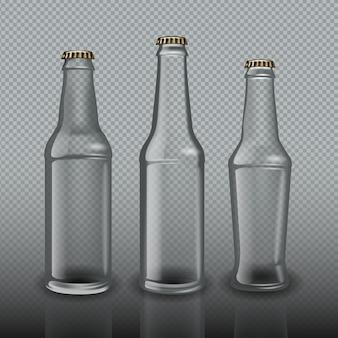 Empty beer bottles template