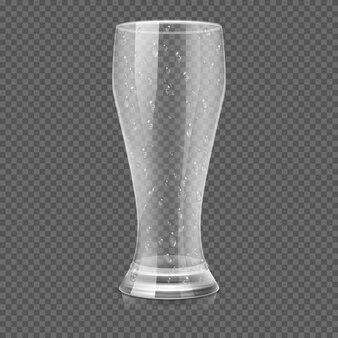 Empty beer glass cup