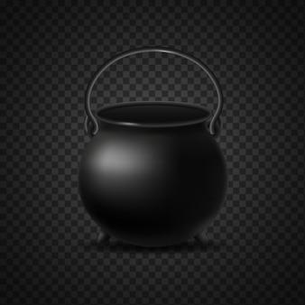 빈 검은 가마솥 절연