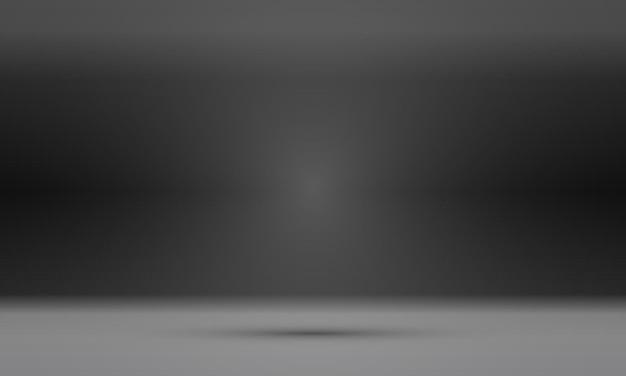 製品を展示するための背景として使用される、空の黒いスタジオルーム。