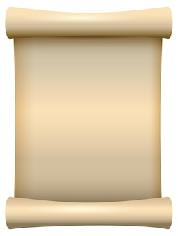 Empty blank paper scroll papyrus isolated illustration