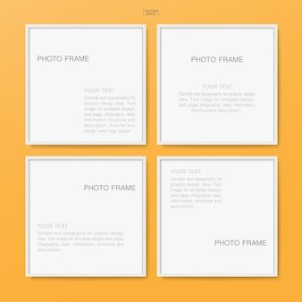 Empty blank photo frame or picture frame for poster background