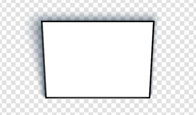 Empty blank sheet in a black frame