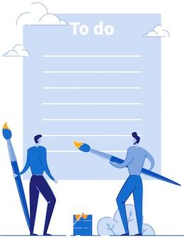 Пустой бланк to do list planner для творческих людей